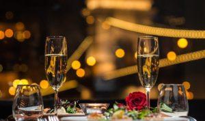 romantic dinner on the danube