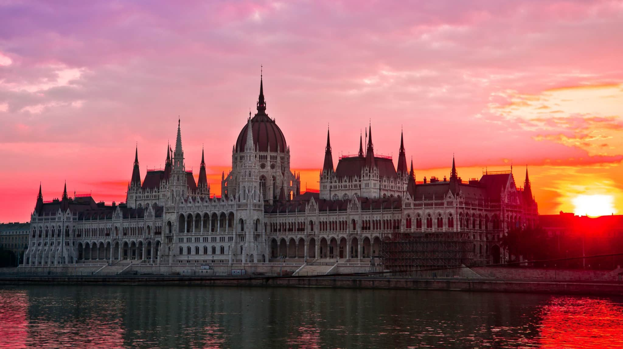 Budapest sunset time
