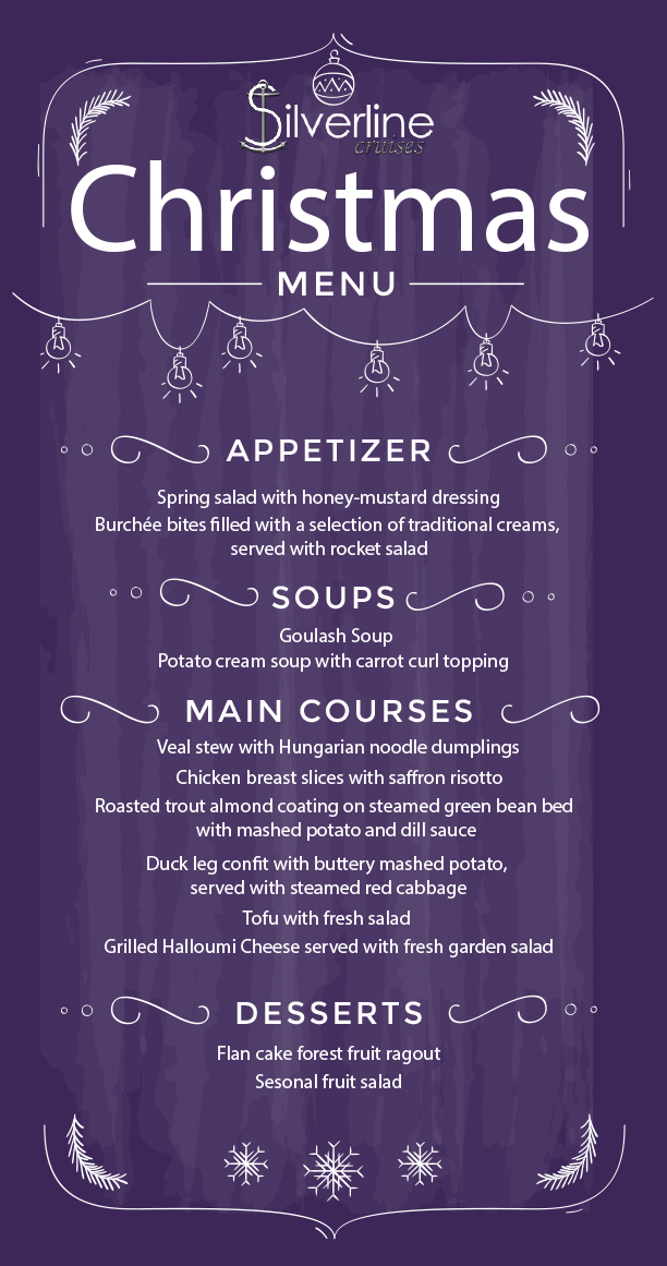 xmas eve menu card